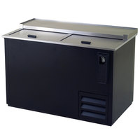 "Excellence HBC-50 52"" Black Bottle Cooler"
