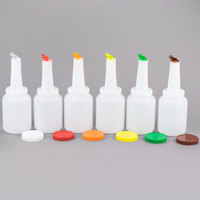 2 Qt. White Pour Bottle Kit with Assorted Spouts and Caps