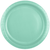 Creative Converting 318876 10 inch Fresh Mint Green Paper Plate - 240/Case