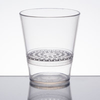 WNA Comet FFRG1248 FunFusions 12 oz. Clear 2-Piece Plastic Rocks Glass with Strainer - 48/Case