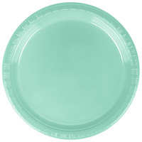 Creative Converting 318877 7 inch Fresh Mint Green Plastic Plate - 240/Case