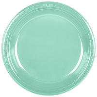 Creative Converting 318880 10 inch Fresh Mint Green Plastic Plate - 240/Case