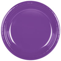 Creative Converting 318919 10 inch Amethyst Purple Plastic Plate - 240/Case