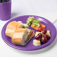 Creative Converting 318919 10 inch Amethyst Purple Plastic Plate - 240/Case