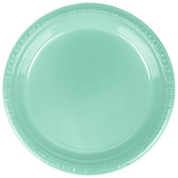 Creative Converting 318878 9 inch Fresh Mint Plastic Dinner Plate - 240/Case