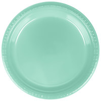 Creative Converting 318878 9 inch Fresh Mint Green Plastic Plate - 240/Case