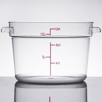 12 Qt. Clear Round Food Storage Container