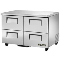 True TUC-48F-D-4-HC 48 inch Undercounter Freezer with Four Drawers