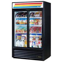 True GDM-41-HC-LD 47 inch Black Refrigerated Sliding Glass Door Merchandiser with LED Lighting