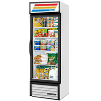 True GDM-19T-HC~TSL01 27 inch White Refrigerated Glass Door Merchandiser with LED Lighting - 19 Cu. Ft.