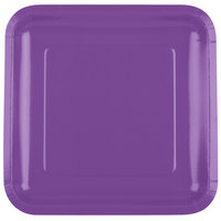 Creative Converting 318925 9 inch Amethyst Purple Square Paper Plate - 180/Case