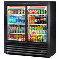 True GDM-41SL-54-HC-LD 47 inch Black Narrow Depth Refrigerated Convenience Store Merchandiser with LED Lighting