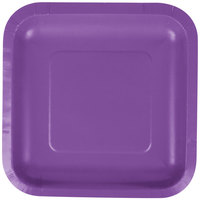 Creative Converting 318918 7 inch Amethyst Purple Square Paper Plate - 180/Case