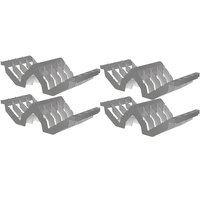 Cambro CSDR84151 Gray 8 Slot Drying Cradle - 4/Pack