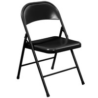 National Public Seating 910 Commercialine Black Metal Folding Chair