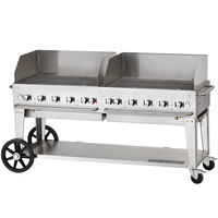 Crown Verity MCB-72WGP Natural Gas 72 inch Mobile Outdoor Grill with Wind Guard Package