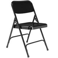 National Public Seating 210 Black Premium Metal Folding Chair