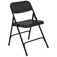 National Public Seating 210 Black Premium Metal Folding Chair
