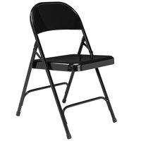 National Public Seating 510 Black Metal Folding Chair