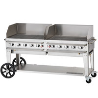 Crown Verity RCB-72WGP Liquid Propane 72 inch Pro Series Outdoor Rental Grill with Wind Guard Package