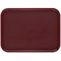 Cambro 1418CWNS488 Camwear 14 inch x 18 inch Dark Cranberry Rectangular Polycarbonate Non-Skid Tray - 12/Case