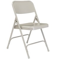 National Public Seating 202 Gray Premium Metal Folding Chair