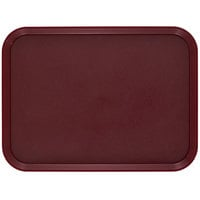 Cambro 1520CWNS488 Camwear 15 inch x 20 inch Dark Cranberry Rectangular Polycarbonate Non-Skid Tray - 12/Case