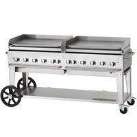 Crown Verity MG-72-NG 72 inch Mobile Outdoor Griddle - Natural Gas