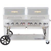 Crown Verity MCB-60RDP Liquid Propane 60 inch Mobile Outdoor Grill with Roll Dome Package