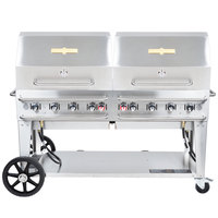 Crown Verity RCB-60RDP Liquid Propane 60 inch Pro Series Outdoor Rental Grill with Roll Dome Package