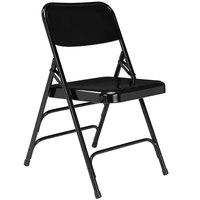 National Public Seating 310 Black Premium Metal Triple-Brace Folding Chair
