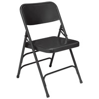 National Public Seating 310 Black Premium Metal Triple-Brace Folding Chair