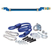 36 inch Dormont 1650BPQ2SR Deluxe SwivelMAX Gas Connector Kit with Coiled Restraining Device - 1/2 inch Diameter