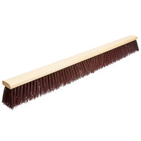 Carlisle 3621933600 Flo Pac 36 inch Push Broom Head with Maroon Unflagged Bristles and Metal Brace