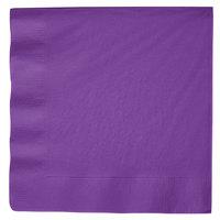 Amethyst Purple Dinner Napkin, 3-Ply - Creative Converting 318928   - 250/Case
