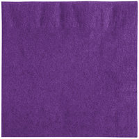 Creative Converting 318930 Amethyst Purple 2-Ply Beverage Napkin - 600/Case