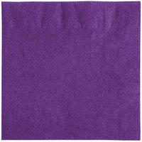 Creative Converting 318930 Amethyst Purple 2-Ply Beverage Napkin   - 600/Case