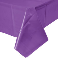 Creative Converting 318940 54 inch x 108 inch Amethyst Purple Plastic Table Cover - 24/Case