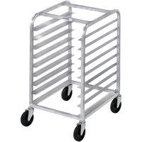 Channel 425A 9 Pan Aluminum End Load Half Height Sheet / Bun Pan Rack - Assembled