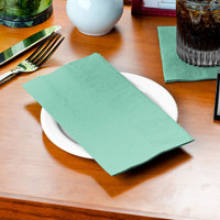 Fresh Mint Green Paper Dinner Napkin, 2-Ply 1/8 Fold - Creative Converting 318899 - 600/Case