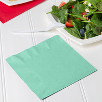 Creative Converting 318890 Fresh Mint Green 2-Ply 1/4 Fold Luncheon Napkin - 600/Case