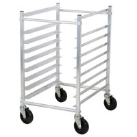 Channel 425AKD 9 Pan Aluminum End Load Half Height Sheet / Bun Pan Rack - Unassembled