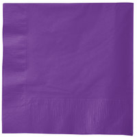 Creative Converting 318926 Amethyst Purple 3-Ply 1/4 Fold Luncheon Napkin - 500/Case