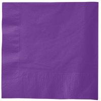 Creative Converting 318926 Amethyst Purple 3-Ply 1/4 Fold Luncheon Napkin   - 500/Case