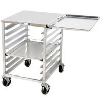 Channel RG102 6 Pan End Load Undercounter Work Top Sheet / Bun Pan Rack with Side Channels