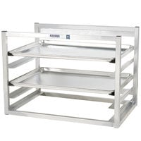 Channel AWM5 5 Pan Side Load Wall Mount Sheet / Bun Pan Rack for Half-Size Pans - Assembled