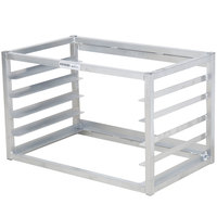 Channel AWM-5 5 Pan Side Load Wall Mount Sheet / Bun Pan Rack for Half-Size Pans - Assembled