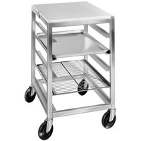 Channel BPRE-6/P 7 Pan End Load Half Height Prep Top Sheet / Bun Pan Rack - Assembled