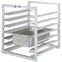 Channel RIUTR-7 7 Pan End Load 20 1/2 inch x 23 inch x 23 inch Pan Rack for Reach-Ins - Assembled