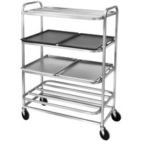 Channel SM-4 40 inch x 26 1/4 inch 4 Shelf Merchandising Cart